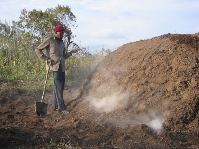 Making charcoal, Kenya