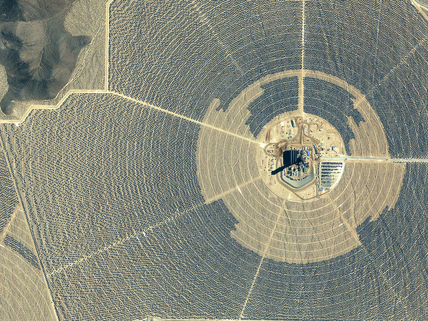 Ivanpah solar thermal facility.