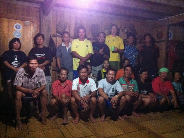 Community meeting about village micro-grid in the Crocker Highlands of Sabah, Malaysian Borneo