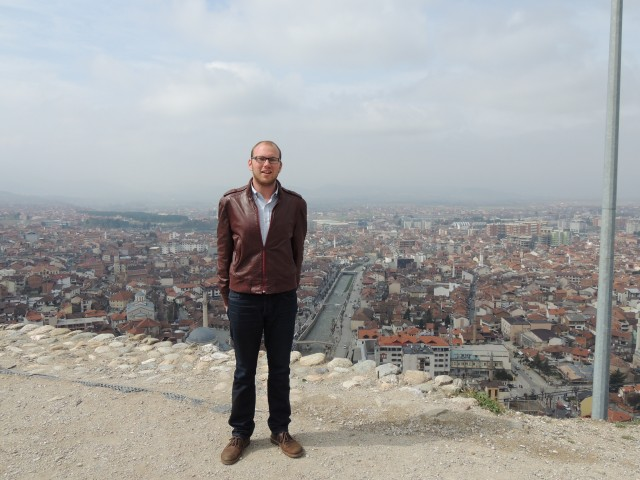 Noah Kittner in Prizren Castle, Kosovo