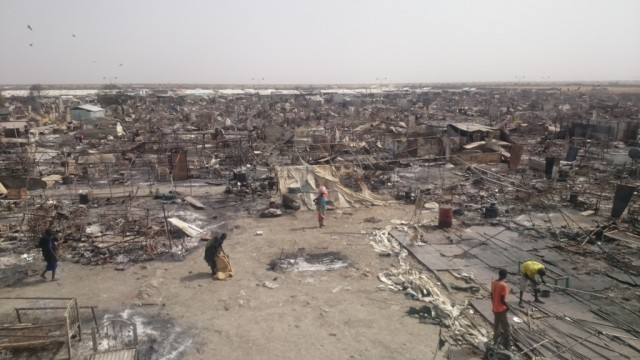 IDP camp in Malakal, South Sudan, following February 2016 violence